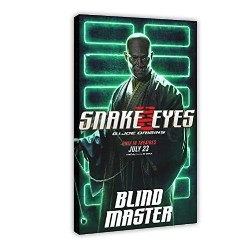 Action Movie Snake Eyes G.I. Joe Origins 6 poster su tela, decorazione da parete per soggiorno, camera da letto, 60 x 90 cm