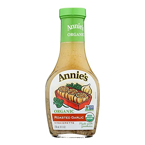 Annie's Naturals Organic Roasted Garlic Dressing, 8-Ounce Bottles (Pack of 6)