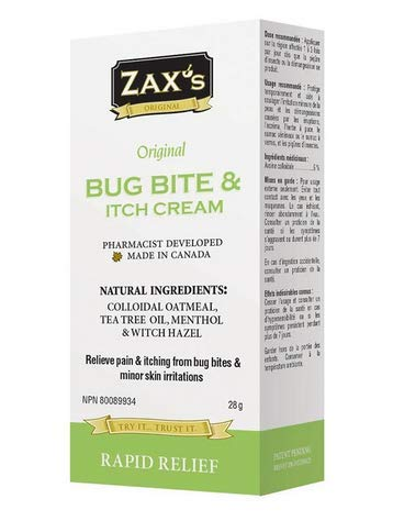 Zax's Original #1 Bug Bite & Anti-Itch Cream - Effective & Soothing Rapid Relief - Pharmacist Developed - Natural Ingredients - 28 Grams