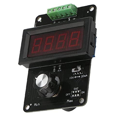 MaylFre Generador de señales de 0-20 mA Tensión Corriente simulador analógico para Ajuste del Valor de los Suministros de Pruebas Negro Panel PLC LED auxiliares del hogar