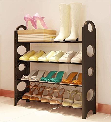 QZMX Estante de Zapatos Zapatero Zapatero Simple Multi Capa Estante del Zapato de plástico, Prueba del Moho Estructura de Acero Inoxidable, a Prueba de Polvo Zapatero for los dormitorios Estante