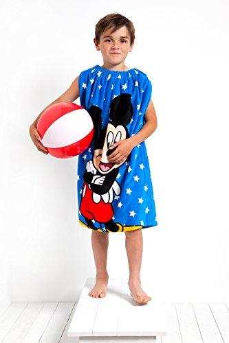 Wrapsies, Disney Mickey Mouse, toalla de algodón elástico para cambiar pañales, toalla portátil, bata de baño portátil, toalla con capucha, toalla para niños y niños, toalla de playa, toalla de baño