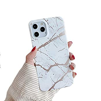 Cocomii Matte Marble iPhone 11 Pro Max Case Slim Thin Matte Soft TPU Silicone Rubber Gel Shiny Reflective Streaks Fashion Bumper Cover Compatible with Apple iPhone 11 Pro Max 6.5   White/Gold