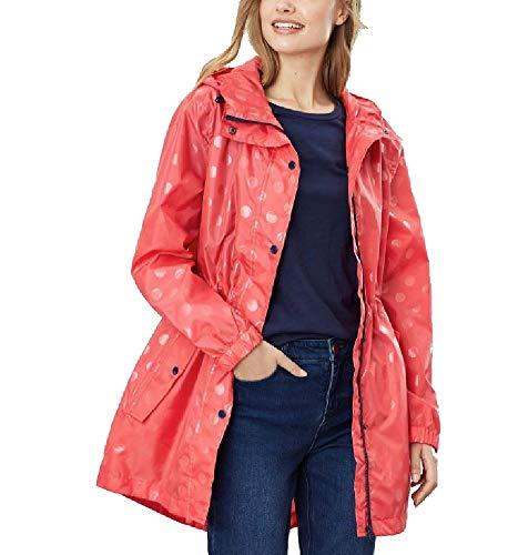 Joules Women's Golightly Printed Waterproof Packaway Rain Jacket (UK14 EU42 US10, Poppy Spot)