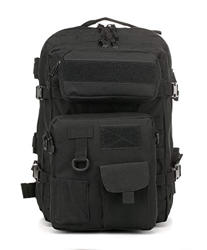 LWSS Backpack Tactical Backpack Hiking Backpack Trekking Backpack with a Large Capacity 47X33X24/black