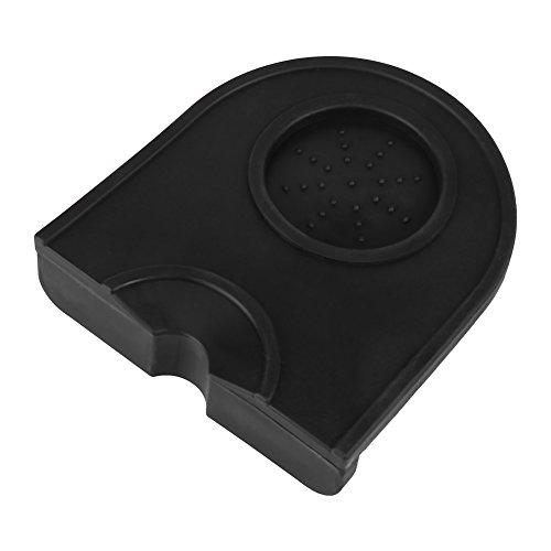 Kaffee Tamper, Schwarz Multifunktions Verdicken Anti-skid Verschleißfestigkeit Stampfenmatte Halter Silikon Pad Matte(Schwarz)