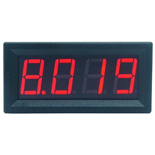 Xurgm Mini Digital DC 0-9.999A(10A) Amperemeter Panel Meter Messer - Red LCD Display