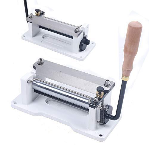 Manual Leather Splitter, Leather Splitter Leather Skiver Peeler Leather Tool Paring Device Kit DIY Peeling Machine Shovel Skin Machine (White)