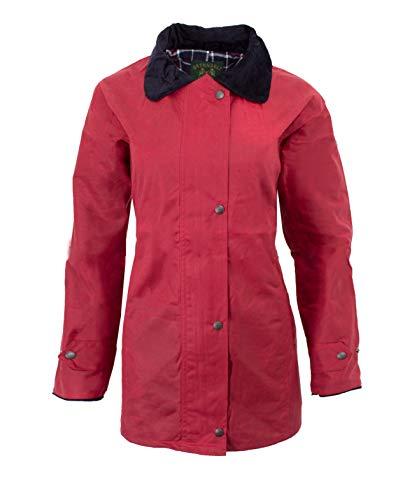 Walker and Hawkes Damen Country-Jacke gewachst - für die Jagd geeignet - klassischer Stil - Rot - Größen 34 bis 44