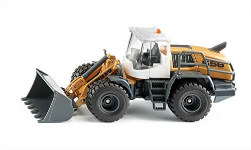 siku 3561, Liebherr L 556 Radlader, 1:50, Metall/Kunststoff, Orange, Beweglicher Frontlader, Motorhaube zum Öffnen