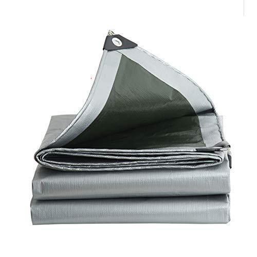 Tarpaulin-CZY Afdekzeil voor buiten, waterdicht, zonwering, winddicht, stofdicht, bescherming voor de privacy, groot multi 7.8mx11.8m zilver