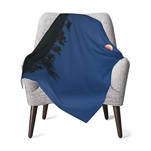 Manta de bebé para niños y niñas, lunas rojas, manta para guardería, manta cálida para el hogar, manta de felpa para cochecito de niños, 76 x 106 cm