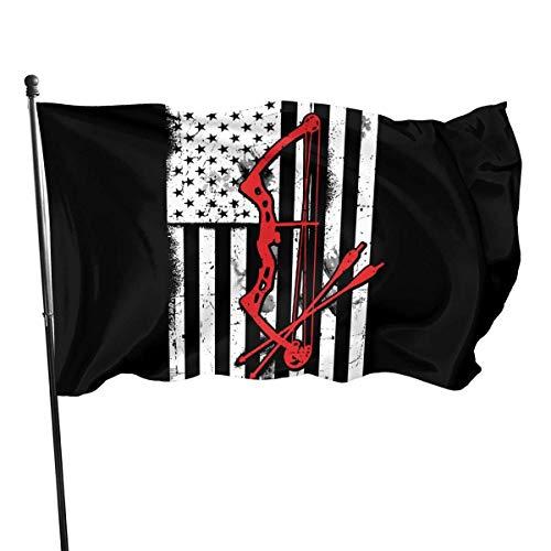 LL-Shop Flagge 3 X 5 Ft Armbrust Bogen Pfeil Amerikanische Flagge Home Decoration Robustes Polyester für Outdoor/Indoor/Garten