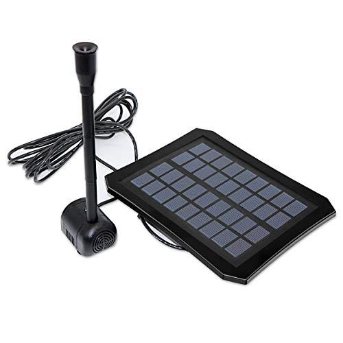 Petyoung 1. Bomba de Agua Solar de 2W con Luz Led para Fuentes Estanque Pequeño Al Aire Libre Patio Jardín Baño para Pájaros Y Pecera Bomba de Fuente Solar Sumergible