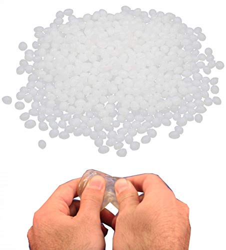 KIRALOVE Plástico moldeable - trabajable con Agua Caliente - Plantilla - moldes - Trabajos artísticos - Modelos - prototipos - Reparaciones - Bricolaje - gránulos - 250 g - plástico