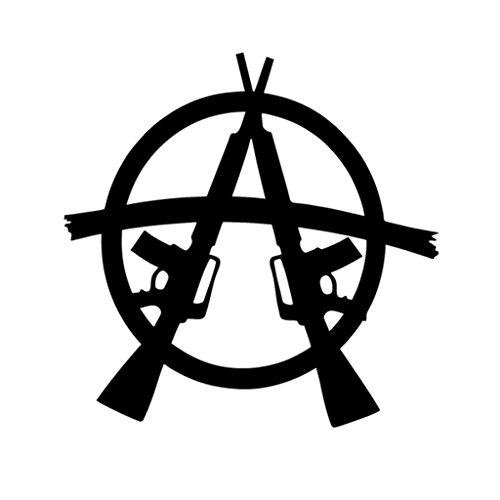 Anarchy Guns Vinyl Decal Sticker   Cars Trucks Vans Walls Laptops Cups   Black   5.5 inches   KCD1331