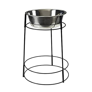 Ethical Pet Spot Hi-Rise Single Diner 2-Quart hygienic stainless steel pet dish, elevated pet feeder for dogs with medical conditions