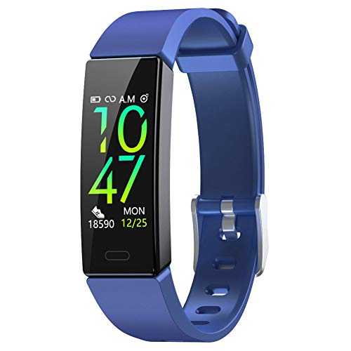 ZURURU Fitness Tracker with Blood Pressure Heart Rate Monitor, IP68 Waterproof Activity Tracker Fit Smart Watch with 10 Sport Modes Pedometer Calorie Step Counter for Women Men (Royal Blue) 1