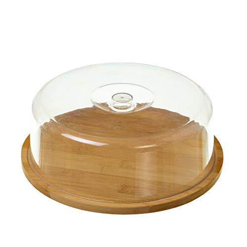 Quesera de mesa nórdica marrón de bambú para cocina Basic - LOLAhome