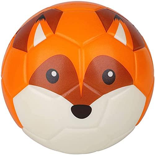 Balón de fútbol, 15 cm, perfecto para manos pequeñas, espuma suave, pelotas de pie de animales para niños, deportes temáticos de fiesta, juguetes para aliviar el estrés, entrenamiento corporal