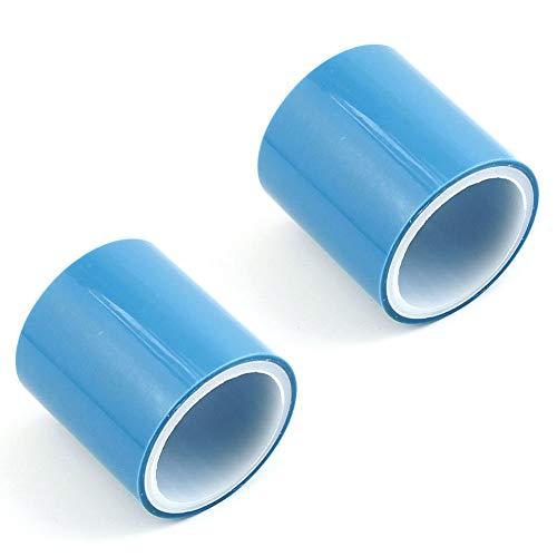 Cinta Sin Rastro UV, 2 Pcs Cinta Adhesiva, Sin Costuras Cinta Adhesiva, Cinta Adhesiva Manualidades Sin Costuras, Cintas Epoxi Manualidades, Cinta Adhesiva Sin Costuras (Azul)