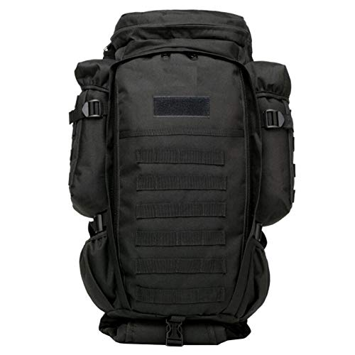 Tactical Backpack Military Grade Waterproof Tear Resistant Material Large Survival Rucksack Multifunction MOLLE Assault Bag for Various Outdoor Sports Adlereyire ( Color : Black , Size : 30*19*120cm )