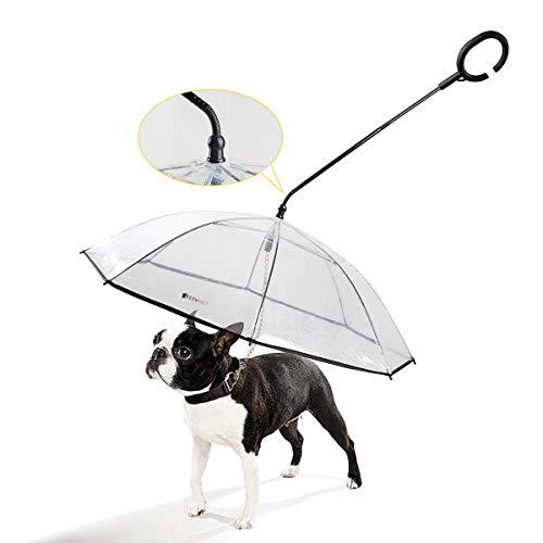 Namsan Hunde Regenschirm mit Leine Hunde Regenjacke für Spaziergänge im Freien bei Schnee oder Regen