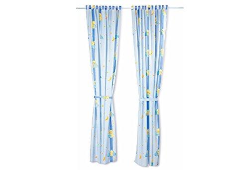 Pinolino 78321-2 - gordijn, 1 sjaal, 245 cm lang - dessin knuffelbeer lichtblauw
