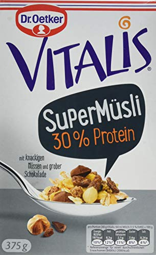 Dr. Oetker Vitalis SuperMüsli 30% Protein: Leckeres Müsli mit der Extra-Portion Protein, 1er Packung, 375g