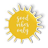 AK Wall Art Good Vibes Only Happy Sun Sunshine - Magnet - Car Fridge Locker - Select Size
