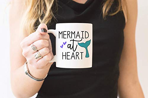 N\A Regalo para Ella - Navidad - Taza de Sirena en el corazón - Soy una Sirena - Taza de Princesa de Disney - Taza de Sirena - Regalo de Sirena