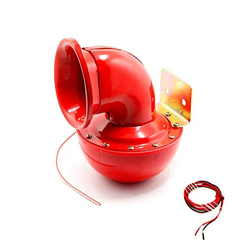 Viping Car Horn 150db Air Horn Electric Bull Horn Loudspeaker Red Horn Unique cow called sound Metal Horn Super Loud horn for Any 12V Vehicles Trucks Lorrys Trains Boats Motorcycle Cars etc