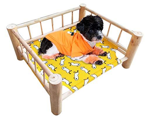 Ping bu - Letto per gatti e cani, lavabile, con struttura staccabile, in legno, per animali domestici, per conigli, gatti, cuccioli, piccoli cani (letto)