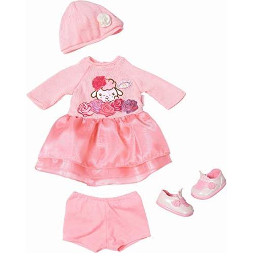 Zapf Creation Strick 43cm Baby Annabell Deluxe-Set di Magliette, 43 cm, Colore: Rosa, 701966