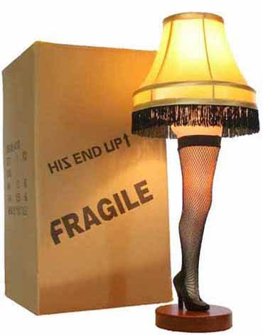 A Christmas Story 26' Desktop Leg Lamp