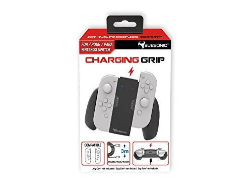 Subsonic - Ladegriff Komfort Griff fur joy-con - Ladegerät Halter Power Charger + USB Kabel (2m) für Nintendo Switch Controller Joy Con - Charging grip Joy Con (Schwarz)
