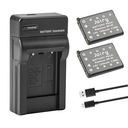 2X NP-45 Batería de Repuesto Compatible con FUJIFILM NP-45 NP-45A NP-45B NP-45S INSTAX Mini 90 Fujifilm FinePix XP140 XP130 XP120 XP90 XP80 XP70 XP60 XP50 XP30 XP20 T560 T550 T510 T500 T400 T360