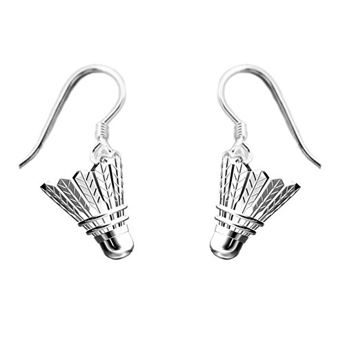 Helen de Lete Badminton Sports 925 Sterling Silber Ohrringe