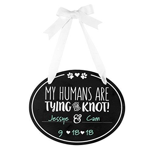 Pearhead Anoucement, Humans are Tie The Knot Quadro negro de casamento para animais de estimação