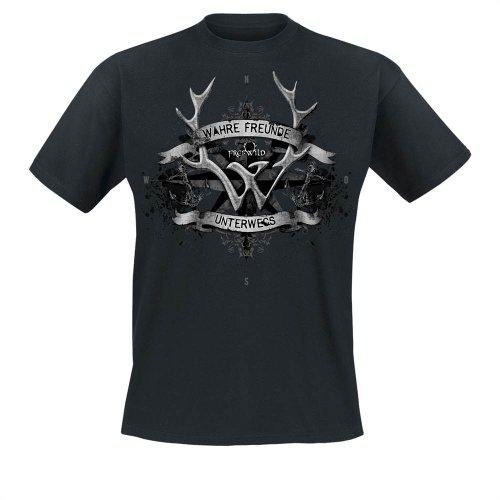 Frei.Wild - Wahre Freunde Unterwegs T-Shirt, schwarz, Grösse XL
