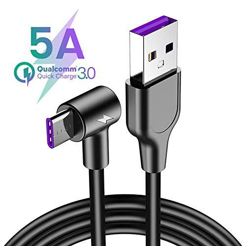 JUAN USB C kabel, 5A USB C snel opladen ondersteuning gegevensoverdracht USB-oplader geschikt voor Huawei Mate 20/20 Pro/10/10 Pro/P20/20 Pro Samsung Galaxy S10/S10 Plus/S9/ S9 Plus