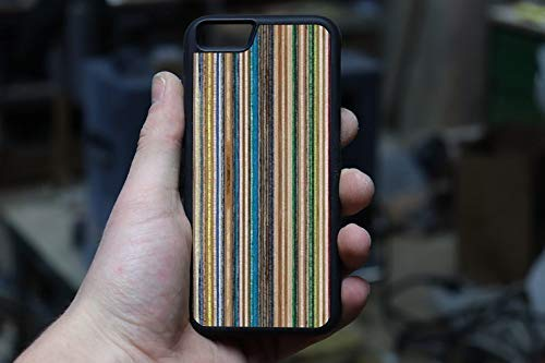 Wooden Recycled Skateboards iPhone case for Xs max, XR, XS, X, 8 plus, 7 plus, 6s plus, 7, 8, 6s, 6