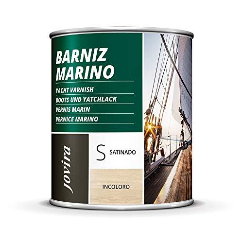VERNIS MARIN Vernis bois extérieur-intérieur incolore, haute résistance dans les environnements marins (750 ml, SATINÉ)