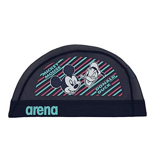 arena(アリーナ) スイムキャップ スイミングキャップ メッシュ ディズニー ミッキー&ドナルド DIS-9360 (NVY)ネイビー S