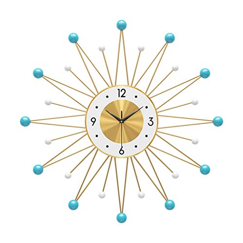 GLJ Blue Star-Shaped Wall Clock, Metal Batteries Drive The Clocks, Used in Living Room, Bedroom and Kitchen, Creative Mute Meter (Size : 78cm)