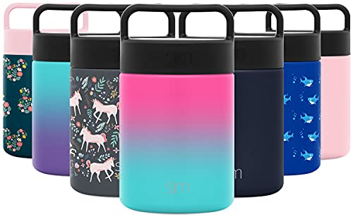 Simple Modern Provision Insulated Food Jar Thermos -Stainless Steel Leak Proof Storage Lunch Container for Hot Food 12oz with Handle Lid Ombre: Sorbet