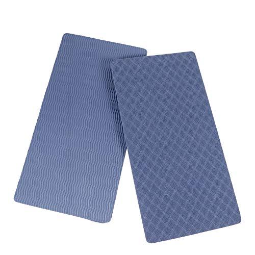 HEALLILY Rodillera de Yoga Cojín de Codo Estera de Soporte para Yoga Pilates Entrenamientos en El Piso Equipo Deportivo TPE Azul Oscuro 1 par