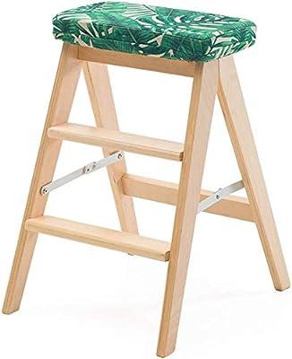 HOMRanger Taburete, Madera Maciza Plegable Escalera Plegable Creativa Simple Taburete portátil Banco de Trabajo para el hogar (Color: # 4): Amazon.es: Hogar