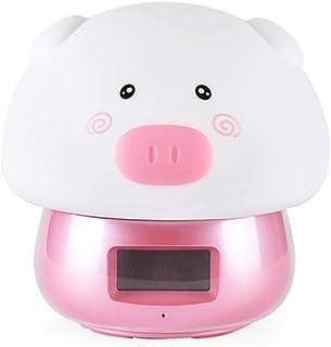 Yhhzw Usb Rechargeab Cute Animal Led Night Night Alarm Clock Kid Baby Bedroom Home Interior Mesita De Noche Decoración Lámpara De Mesa Tamaño 127 × 134