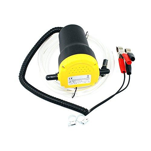 Bomba Extractora de Aceite Motor de Coche 12v,juego de Bomba Autocebante Eléctrica Extractores de Fluidos con 2 Tubos-para Cambiar la Gasolina